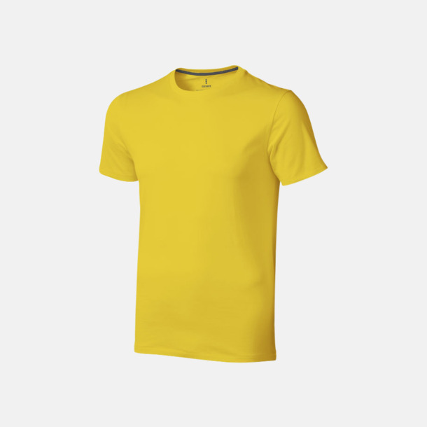 Gul (herr) Bekväma t-shirts med reklamtryck