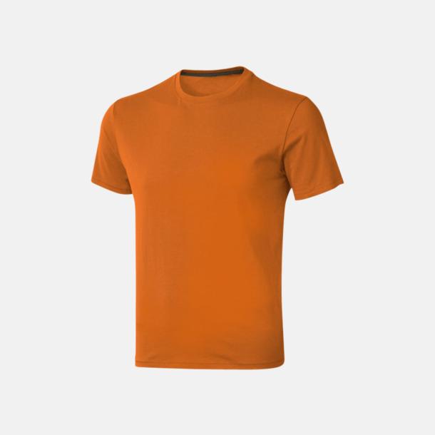 Orange (herr) Bekväma t-shirts med reklamtryck