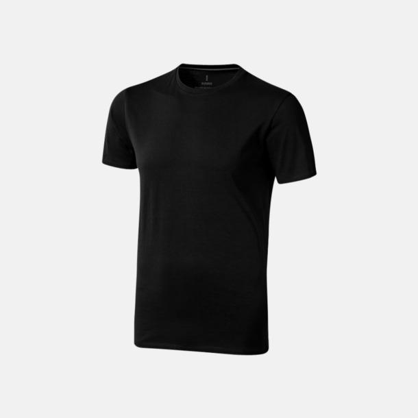 Svart (herr) Bekväma t-shirts med reklamtryck