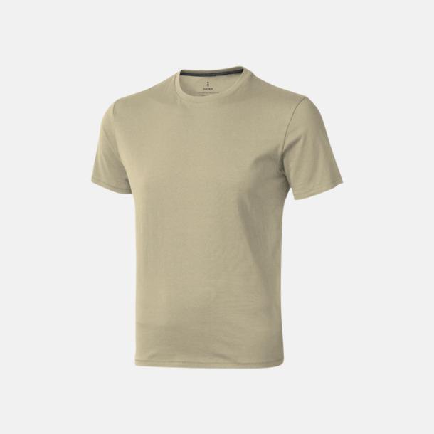 Khaki (herr) Bekväma t-shirts med reklamtryck