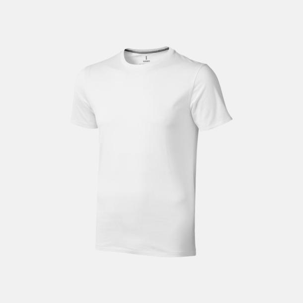 Vit (herr) Bekväma t-shirts med reklamtryck