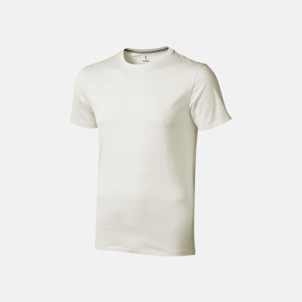 Ljusgrå (herr) Bekväma t-shirts med reklamtryck