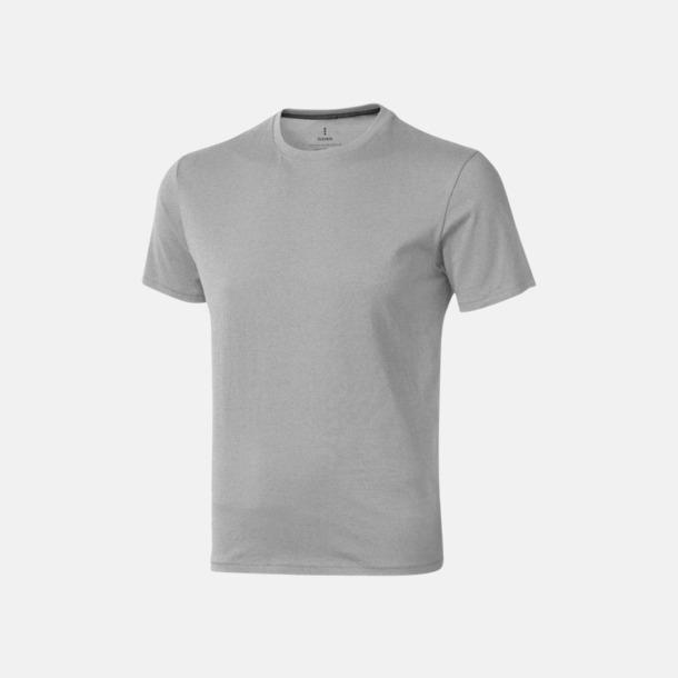 Grey Melange (herr) Bekväma t-shirts med reklamtryck
