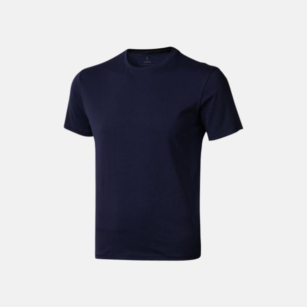 Marinblå (herr) Bekväma t-shirts med reklamtryck