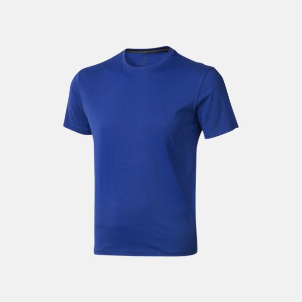 Blå (herr) Bekväma t-shirts med reklamtryck
