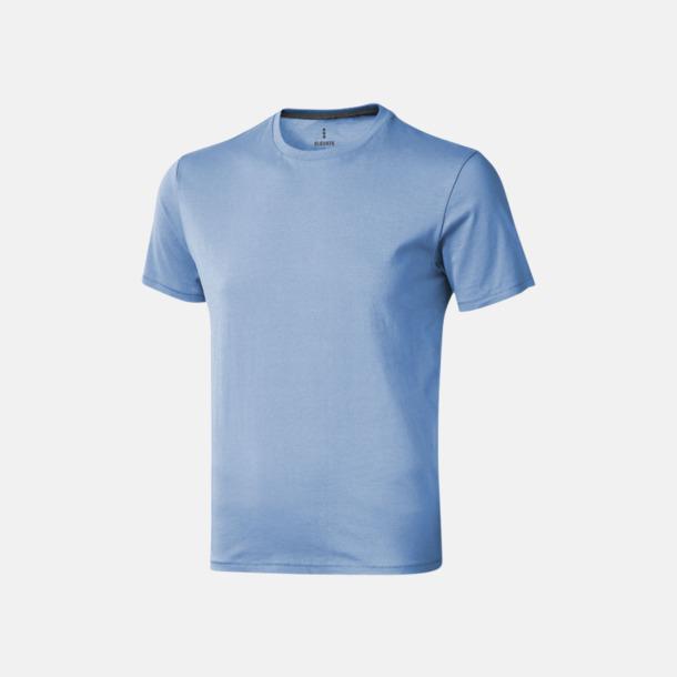 Ljusblå (herr) Bekväma t-shirts med reklamtryck