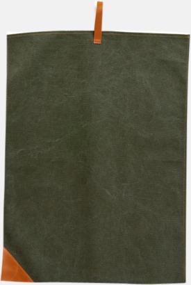 Grön Kökshanddukar i canvas från Vinga of Sweden med eget reklamtryck