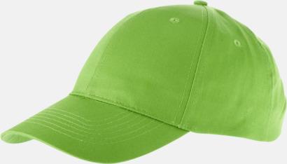 Apple Green Enfärgade bomullskepsar med reklamtryck