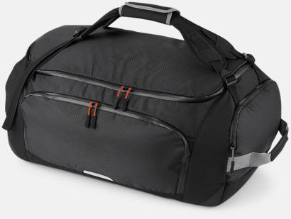 Svart 60 liters väskor med reklamtryck