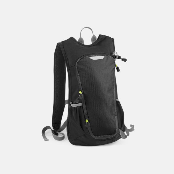 Svart Sportiga ryggsäckar med tryck