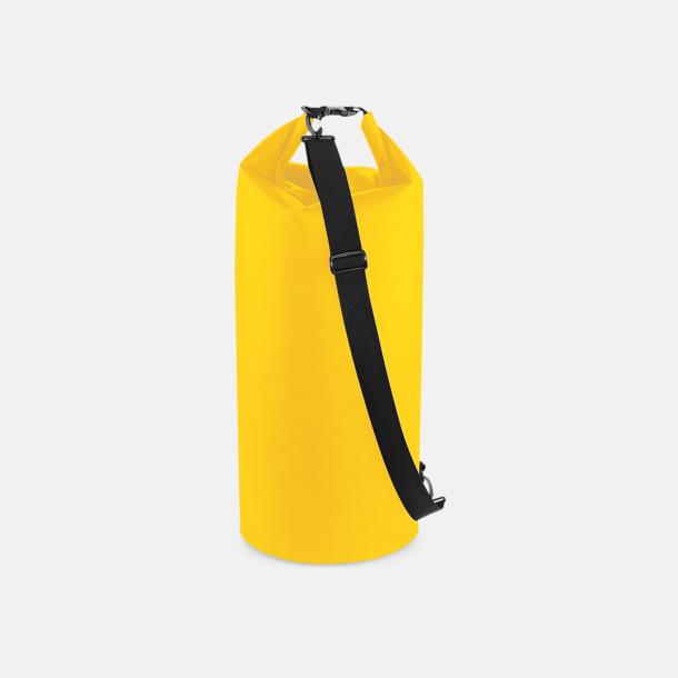 Gul (60 liter) Vattentäta axelväskor i 2 storlekar med reklamtryck