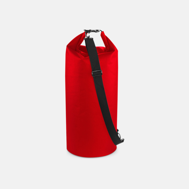 Röd (60 liter) Vattentäta axelväskor i 2 storlekar med reklamtryck