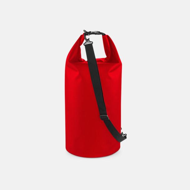 Röd (40 liter) Vattentäta axelväskor i 2 storlekar med reklamtryck