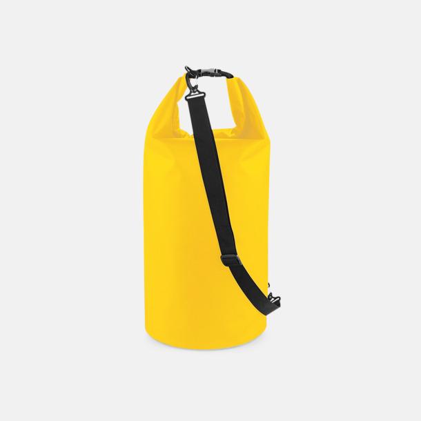 Gul (40 liter) Vattentäta axelväskor i 2 storlekar med reklamtryck