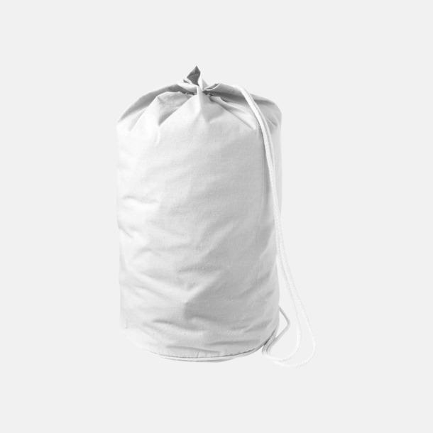 Vit Enkla seglarväskor i bomull med reklamtryck