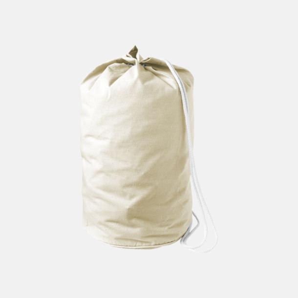 Natur Enkla seglarväskor i bomull med reklamtryck
