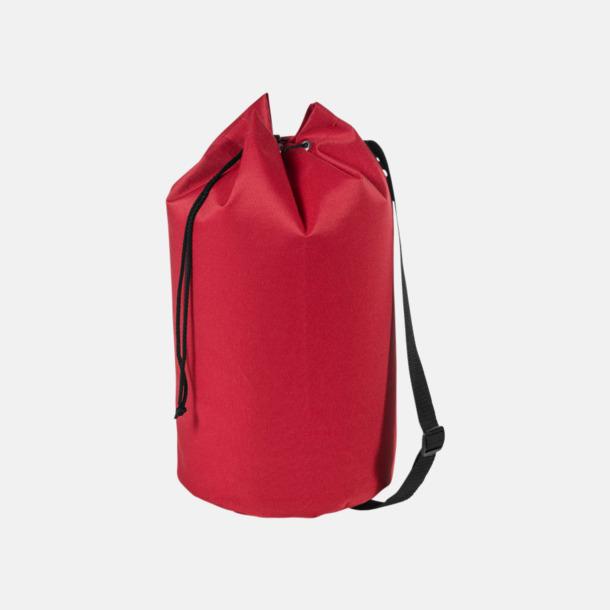 Röd Enkla seglarväskor med reklamtryck