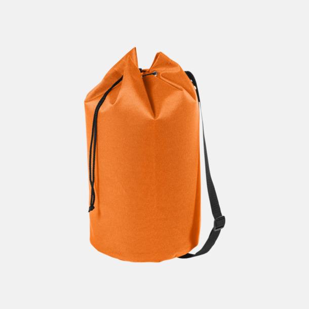 Orange Enkla seglarväskor med reklamtryck