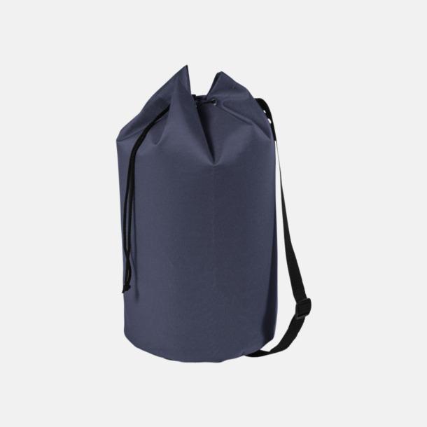 Marinblå Enkla seglarväskor med reklamtryck