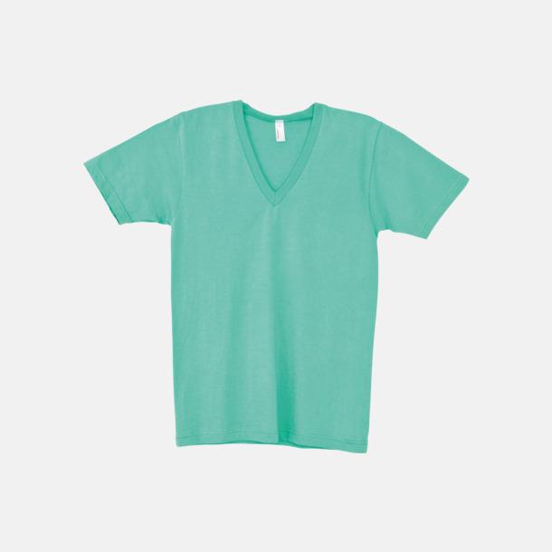 Mint Unisex v-neck t-shirts med reklamtryck