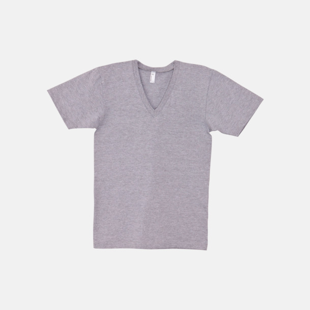 Heather Grey Unisex v-neck t-shirts med reklamtryck