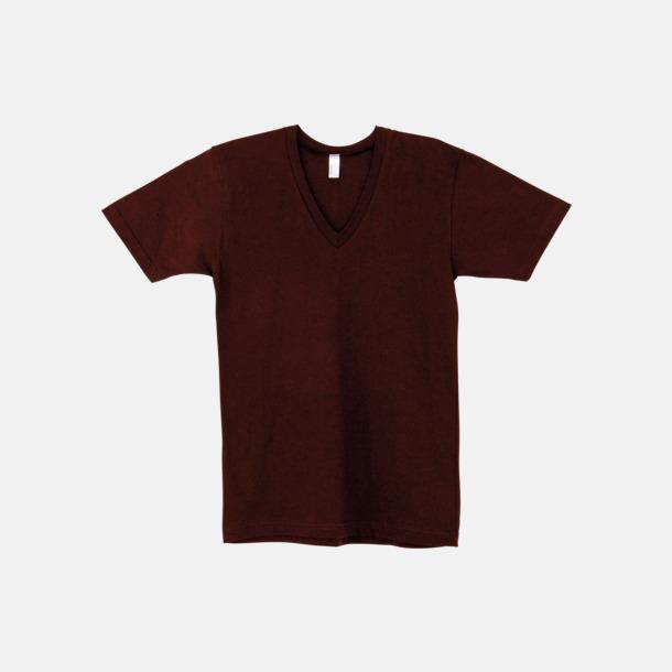 Cranberry Unisex v-neck t-shirts med reklamtryck