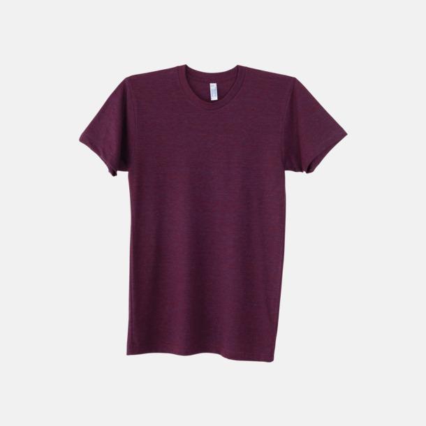 Tri-Cranberry (unisex) T-shirts i unisex- & dammodell med reklamtryck