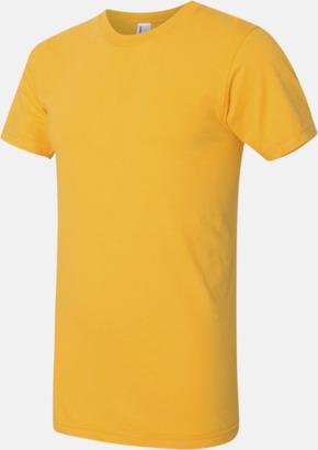 Gold (unisex) Unisex & dam t-shirts med reklamtryck
