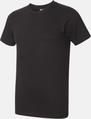 Svart (unisex) Unisex & dam t-shirts med reklamtryck