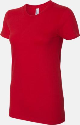Röd (dam) Unisex & dam t-shirts med reklamtryck