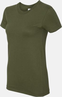 Olive (dam) Unisex & dam t-shirts med reklamtryck