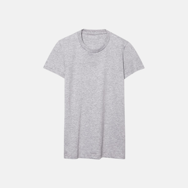 Heather Grey (dam) Unisex & dam t-shirts med reklamtryck