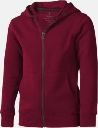 Burgundy (barn) Fina hoodies för herr, dam & barn - med reklamtryck