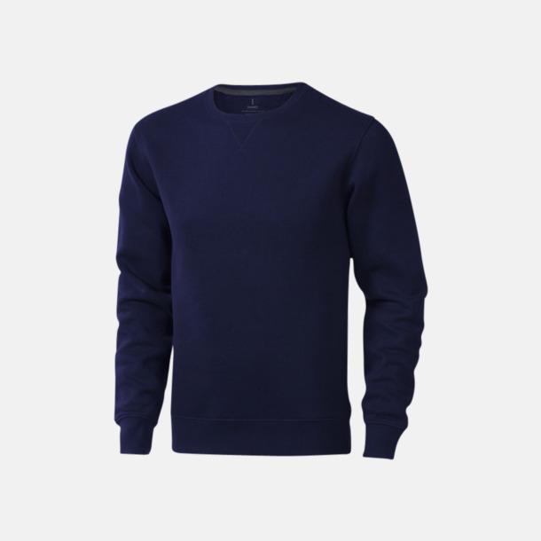 Marinblå Tröjor med många tryckmöjligheter med egen logo