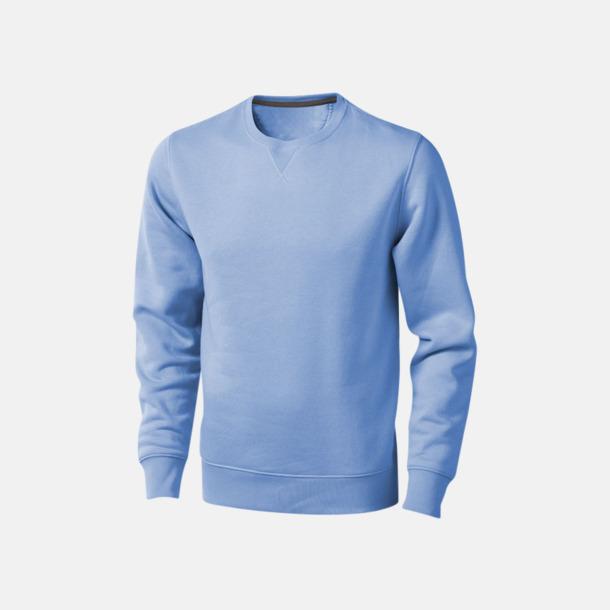 Ljusblå Tröjor med många tryckmöjligheter med egen logo