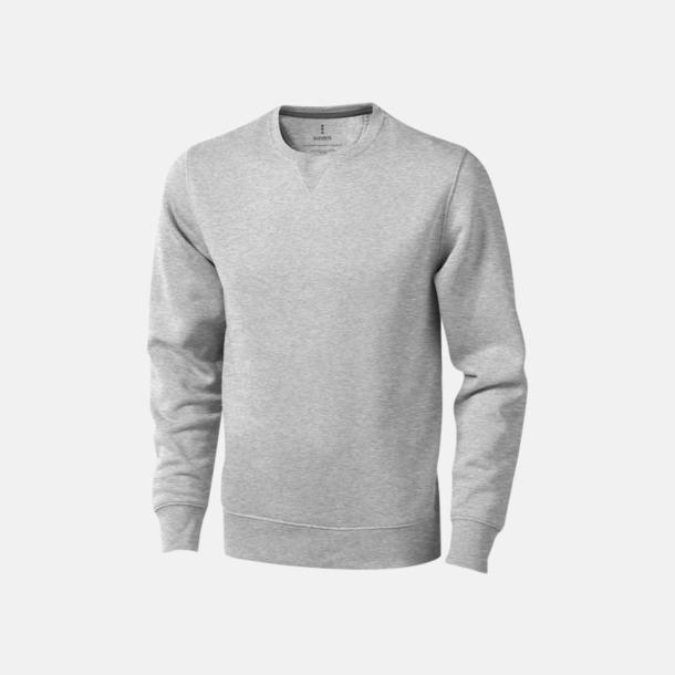 Grey Melange Tröjor med många tryckmöjligheter med egen logo