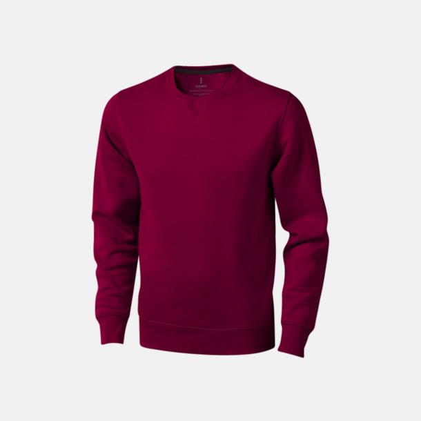 Burgundy Tröjor med många tryckmöjligheter med egen logo