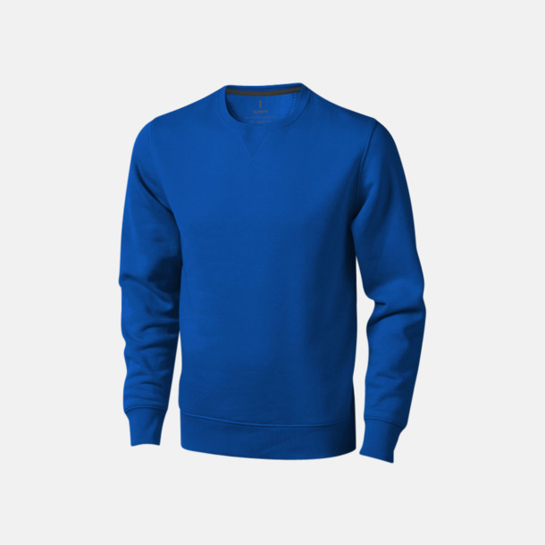 Blå Tröjor med många tryckmöjligheter med egen logo