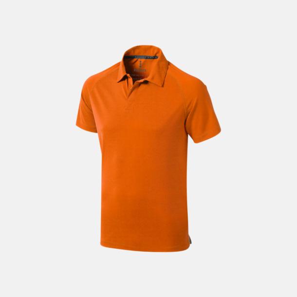Orange (herr) Träningspikéer med reklamtryck