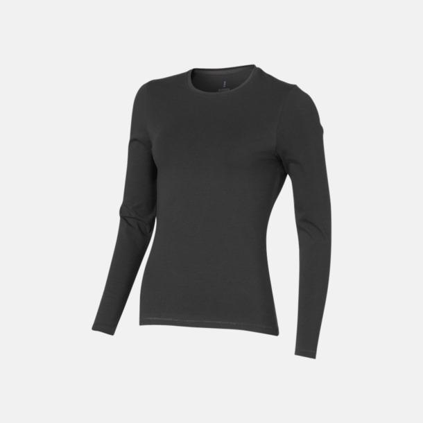 Antharcite (dam) Eko långärmade t-shirts med reklamtryck