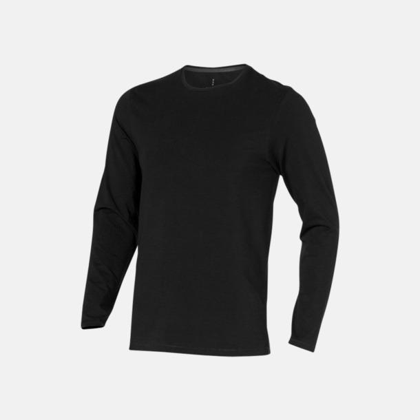 Svart (herr) Eko långärmade t-shirts med reklamtryck