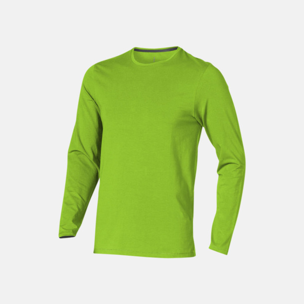 Apple (herr) Eko långärmade t-shirts med reklamtryck