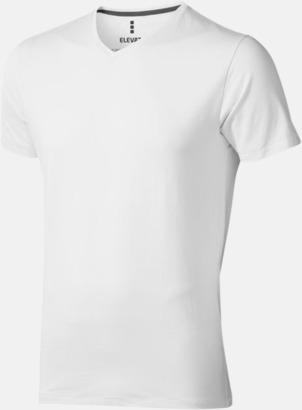 Vit (herr) Vuxen t-shirts i eko-bomull med reklamtryck