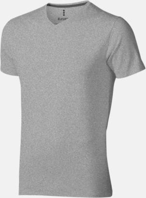 Grey Melange (herr) Vuxen t-shirts i eko-bomull med reklamtryck