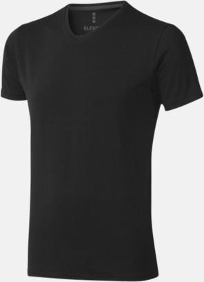 Svart (herr) Vuxen t-shirts i eko-bomull med reklamtryck