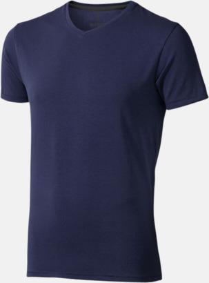 Marinblå (herr) Vuxen t-shirts i eko-bomull med reklamtryck