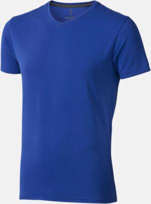 Blå (herr) Vuxen t-shirts i eko-bomull med reklamtryck