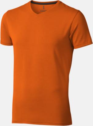 Orange (herr) Vuxen t-shirts i eko-bomull med reklamtryck