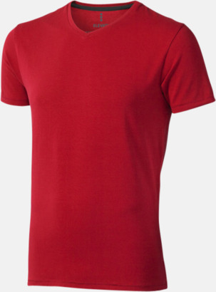 Röd (herr) Vuxen t-shirts i eko-bomull med reklamtryck