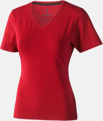 Röd (dam) Vuxen t-shirts i eko-bomull med reklamtryck